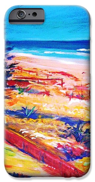 IPhone 6 Case featuring the painting The Winter Dunes by Winsome Gunning