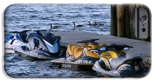 Jet Ski iPhone 6 Case - The Yellow Jet Ski by Colleen Kammerer