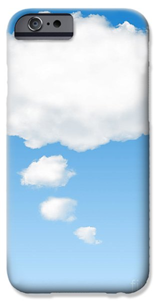 Blank iPhone Cases - Thinking Cloud iPhone Case by Carlos Caetano