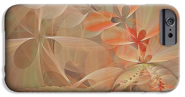 Abstract Digital Pastels iPhone Cases - Thinking of You iPhone Case by Gayle Odsather