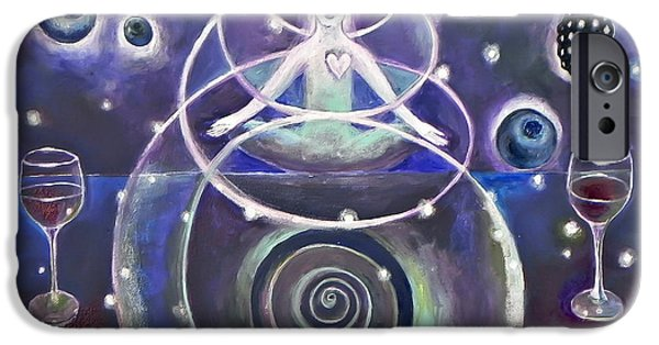 Third Eye Paintings iPhone Cases - Third eye iPhone Case by Manami Lingerfelt