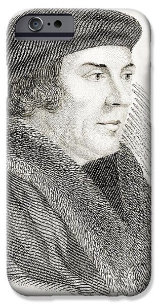 Politician iPhone Cases - Thomas Cromwell Earl Of Essex Baron iPhone Case by Ken Welsh