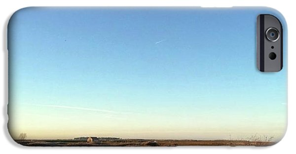Sky iPhone 6 Case - Thornham Marsh Lit By The Setting Sun by John Edwards