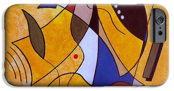 Abstract Lines iPhone Cases - Three White Petals iPhone Case by Ruth Palmer