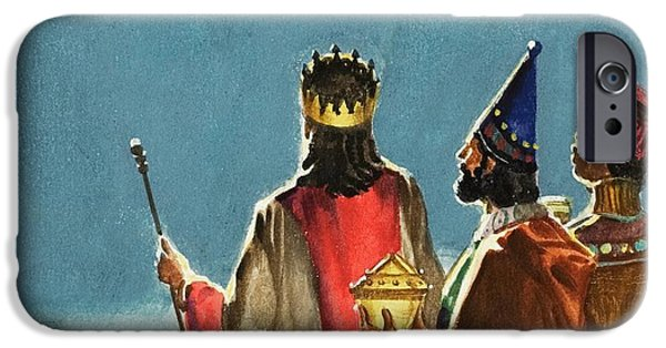 Star Of Bethlehem iPhone Cases - Three Wise Men iPhone Case by English School