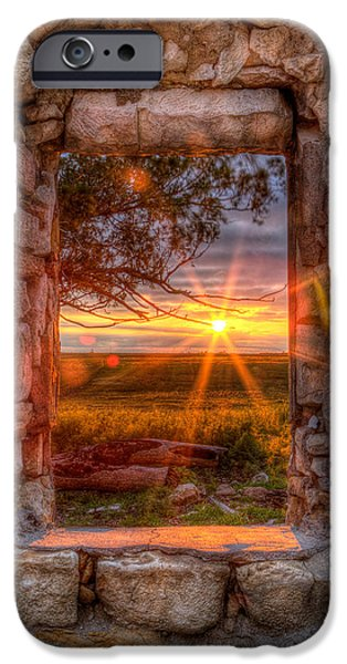 Pasture iPhone Cases - Through the Bedroom Window iPhone Case by Thomas Zimmerman