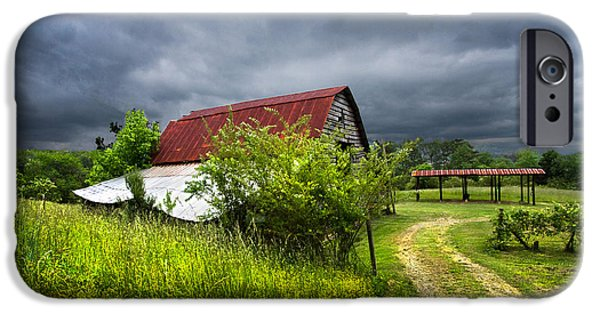 Shed iPhone Cases - Thunder Road iPhone Case by Debra and Dave Vanderlaan