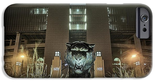 IPhone 6 Case featuring the photograph Tiger Stadium On Saturday Night by JC Findley