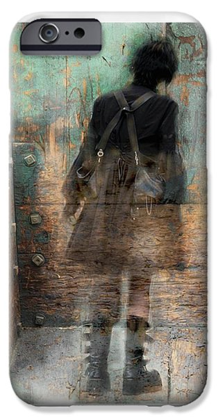 Surrealism Digital iPhone Cases - Time Passages - Beyond All Barriers iPhone Case by Bob Salo