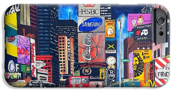 Times Square IPhone 6 Case by Autumn Leaves Art
