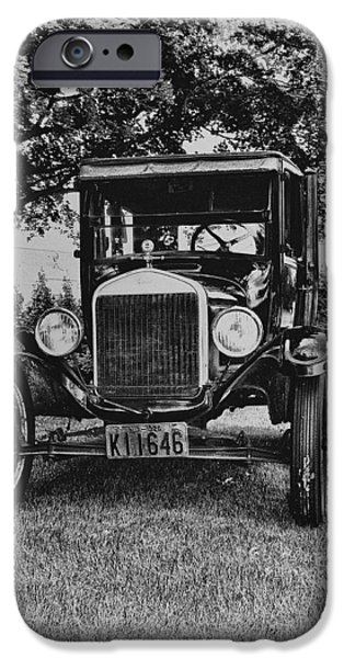Ford Model T Car iPhone Cases - Tin Lizzy - Ford Model T iPhone Case by Bill Cannon