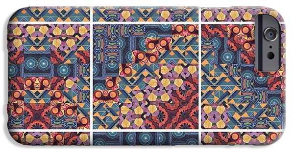 United iPhone Cases - T J O D Mandala Series Puzzle 5 Variations 1 to 9 iPhone Case by Helena Tiainen