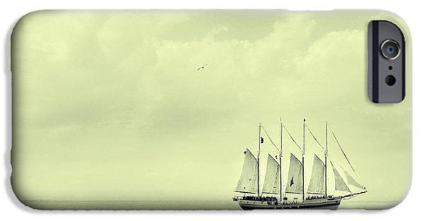 Tall Ship iPhone Cases - To Hold Time In Your Hand iPhone Case by Dana DiPasquale