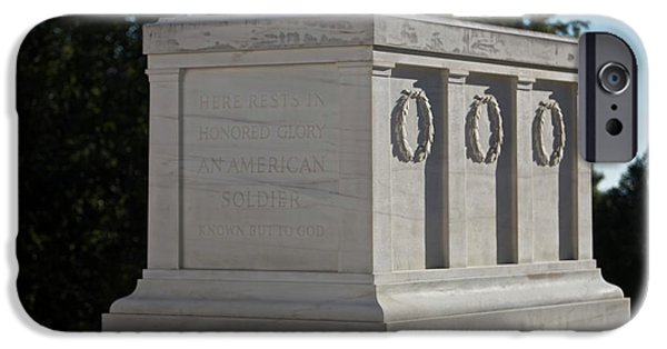 Headstones iPhone Cases - Tomb Of The Unknown Soldier, Arlington iPhone Case by Terry Moore