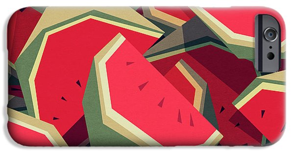 iPhone 6 Case - Too Many Watermelons by Yetiland