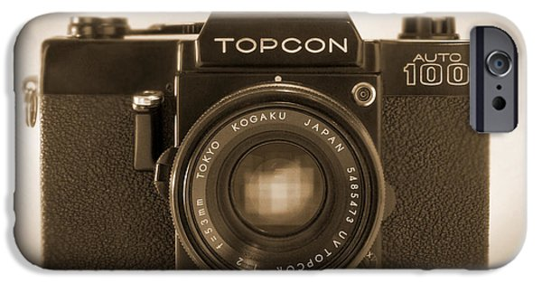 35mm iPhone Cases - Topcon Auto 100 iPhone Case by Mike McGlothlen