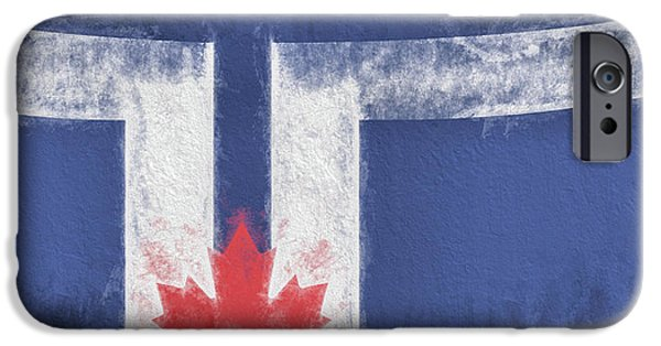 IPhone 6 Case featuring the digital art Toronto Canada City Flag by JC Findley