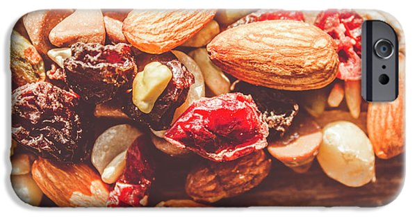 Sunflower Seeds iPhone 6 Case - Trail Mix High-energy Snack Food Background by Jorgo Photography - Wall Art Gallery