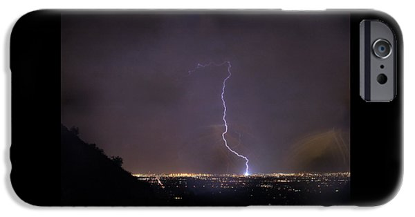 IPhone 6 Case featuring the photograph It's A Hit Transformer Lightning Strike by James BO Insogna