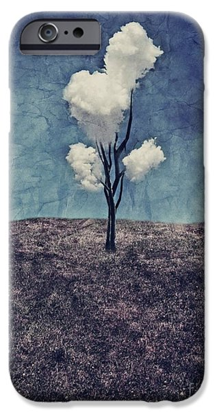 Blue iPhone 6 Case - Tree Clouds 01d2 by Aimelle