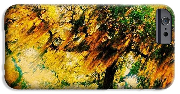 #tree #green #yellow #colourful #sc IPhone 6 Case