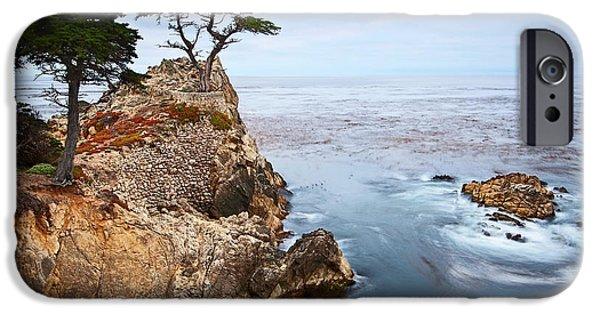 Water Ocean iPhone 6 Case - Tree Of Dreams - Lone Cypress Tree At Pebble Beach In Monterey California by Jamie Pham