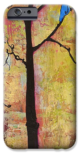 Tree Art Print iPhone Cases - Tree Print Triptych Section 2 iPhone Case by Blenda Studio