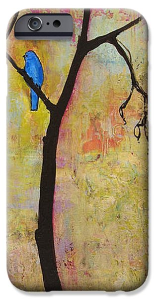 Tree Art Print iPhone Cases - Tree Print Triptych Section 3 iPhone Case by Blenda Studio