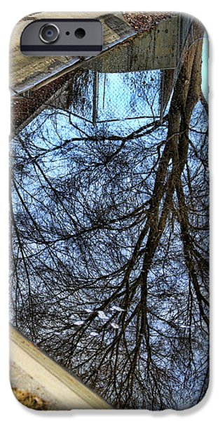 Posters From iPhone Cases - Tree Reflection From No Where Photography Image iPhone Case by James BO  Insogna