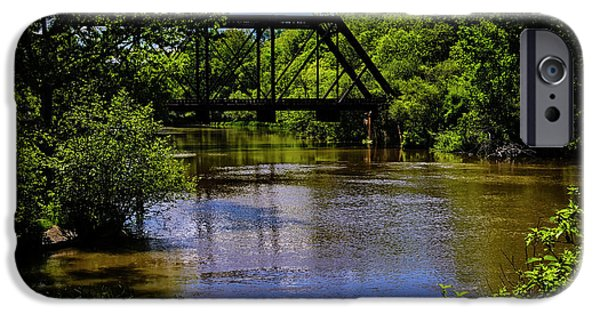 IPhone 6 Case featuring the photograph Trestle Over River by Mark Myhaver