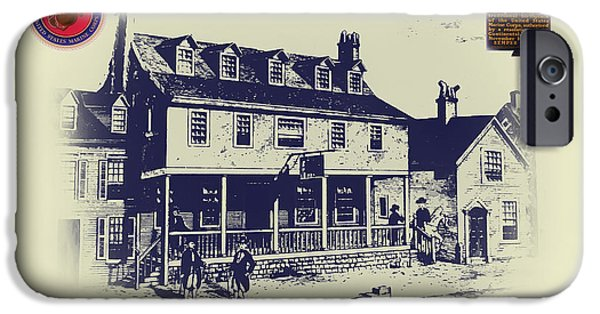 Bill Cannon iPhone Cases - Tun Tavern - Birthplace of the Marine Corps iPhone Case by Bill Cannon