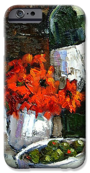 Table Wine iPhone Cases - Tuscan Table iPhone Case by Carole Foret