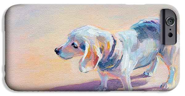 Beagles iPhone Cases - Twilight iPhone Case by Kimberly Santini