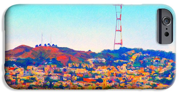 Bay Area Digital iPhone Cases - Twin Peaks in San Francisco iPhone Case by Wingsdomain Art and Photography
