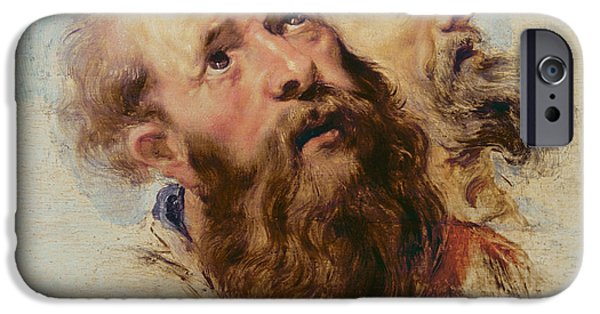 The Followers Paintings iPhone Cases - Two Apostles iPhone Case by Rubens