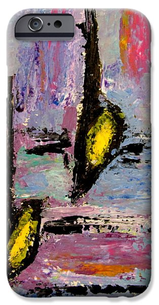 Splashy Paintings iPhone Cases - Two Flats iPhone Case by Anita Burgermeister