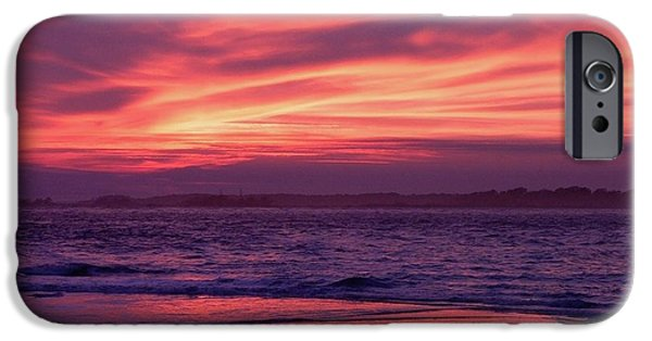 Tybee Island iPhone Cases - Tybee Island Sunset iPhone Case by Al Powell Photography USA