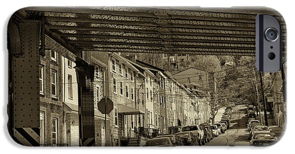 City Scape Photographs iPhone Cases - Under The El At Manayunk 1 iPhone Case by Jack Paolini
