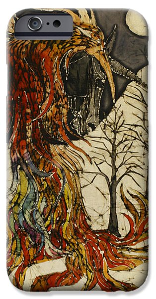 Horse Tapestries - Textiles iPhone Cases - Unicorn and Phoenix iPhone Case by Carol  Law Conklin