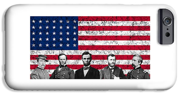 Lincoln iPhone Cases - Union Heroes and The American Flag iPhone Case by War Is Hell Store