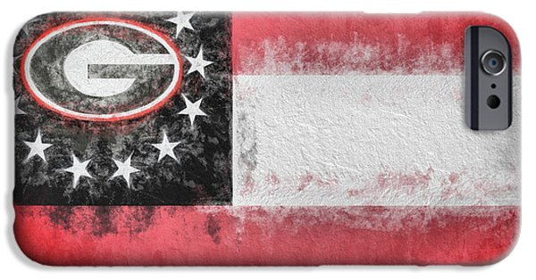IPhone 6 Case featuring the digital art University Of Georgia State Flag by JC Findley