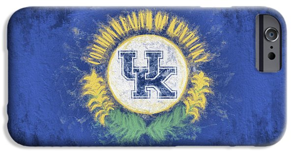 IPhone 6 Case featuring the digital art University Of Kentucky State Flag by JC Findley