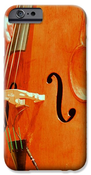 Upright Bass iPhone Cases - Upright Bass 3 iPhone Case by Anita Burgermeister