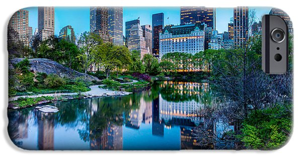 Famous Photographer iPhone Cases - Urban Oasis iPhone Case by Az Jackson