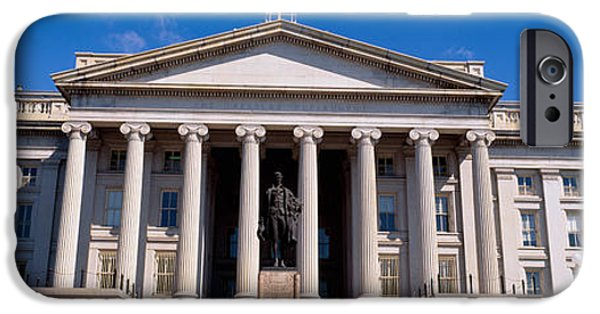 Treasury iPhone Cases - U.s. Department Of Treasury With Statue iPhone Case by Panoramic Images