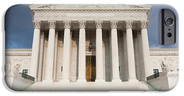 D.c. iPhone Cases - US Supreme Court Building V iPhone Case by Clarence Holmes