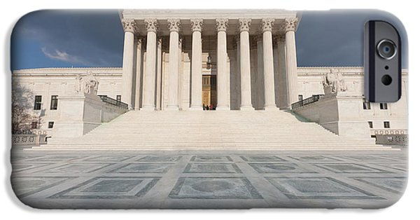 D.c. iPhone Cases - US Supreme Court Building VII iPhone Case by Clarence Holmes