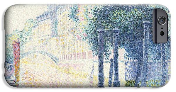 1856 iPhone Cases - Venice iPhone Case by Henri-Edmond Cross