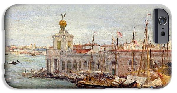 Sailboats iPhone Cases - Venice iPhone Case by Sir Samuel Luke Fields