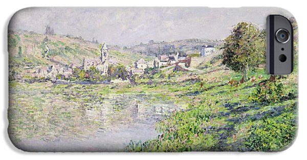 1879 iPhone Cases - Vetheuil iPhone Case by Claude Monet